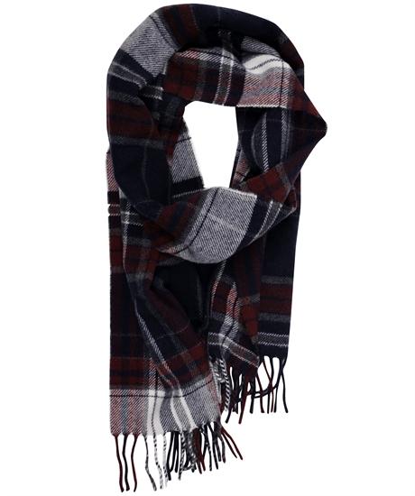 Check lambswool scarf thumbnail