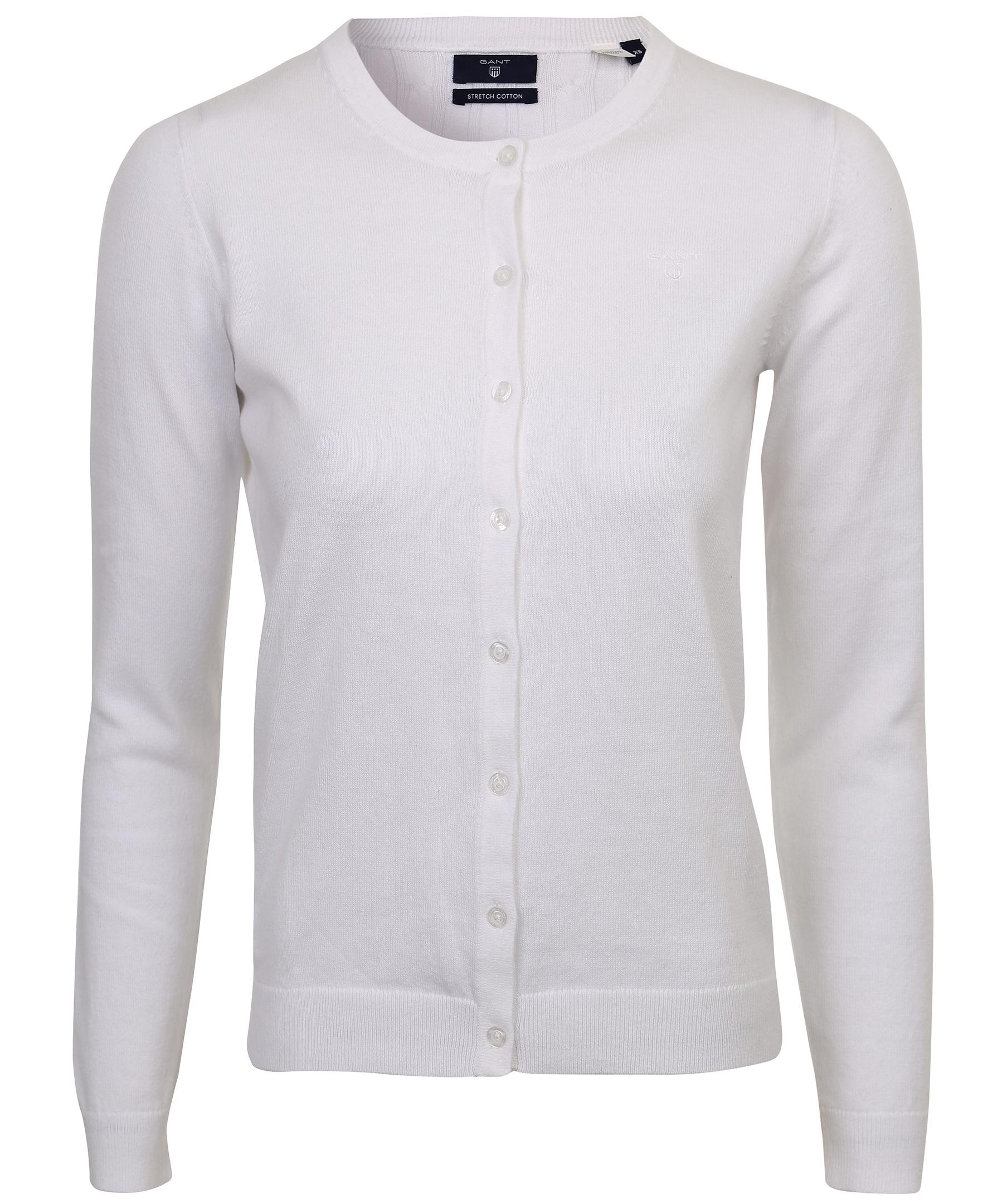 acda2d69866 Handla Gant Soft cotton crew cardigan hos Johnells.se