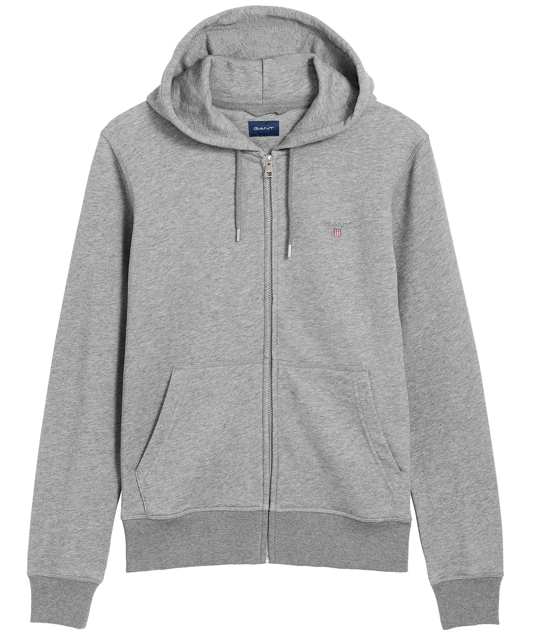 Toppkvalité officiell butik gratis frakt Handla Gant Original full zip hoodie hos Johnells.se