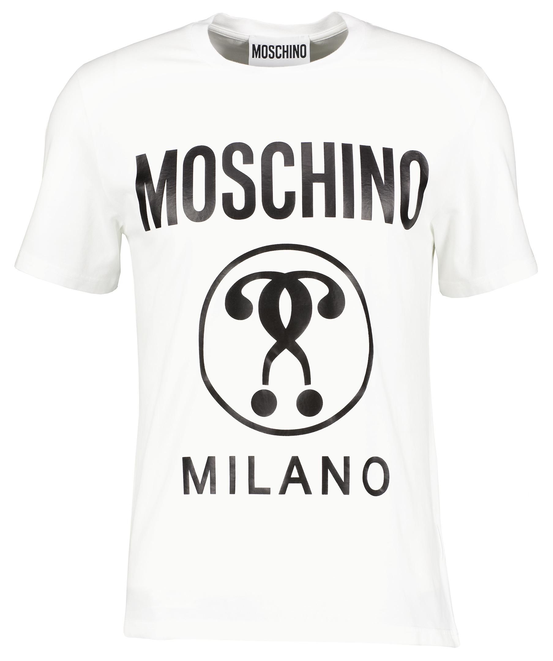 Moschino Question Mark Blue Logo T-Shirt