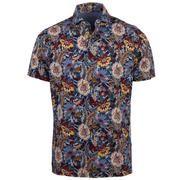 Printed Flower Polo